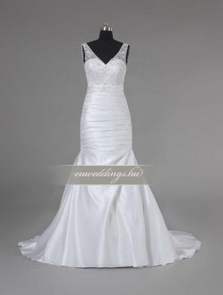 Esküvői ruha sellő fazonú pántos-SFP-10082