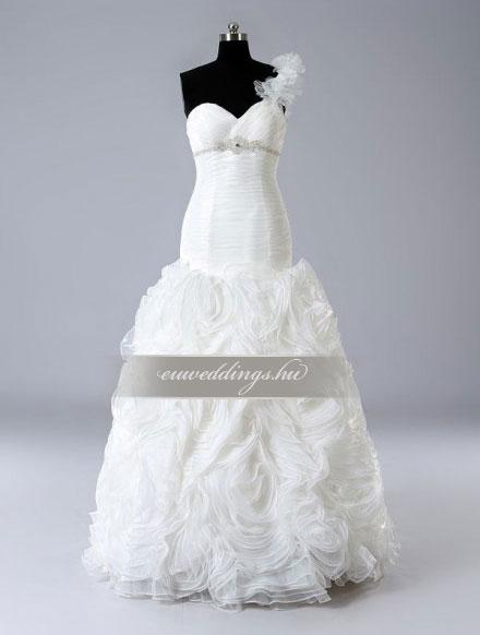 Esküvői ruha sellő fazonú pántos-SFP-10098