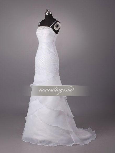 Esküvői ruha sellő fazonú pántos-SFP-10111