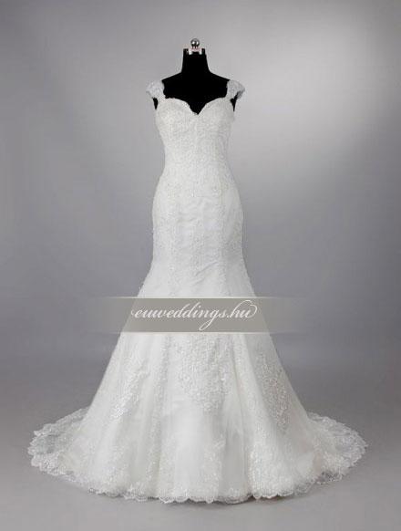 Esküvői ruha sellő fazonú pántos-SFP-10121