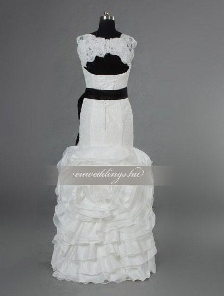 Esküvői ruha sellő fazonú pántos-SFP-10126