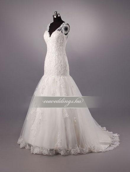 Esküvői ruha sellő fazonú pántos-SFP-10139