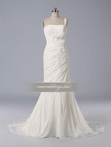 Esküvői ruha sellő fazonú pántos-SFP-10148