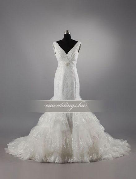 Esküvői ruha sellő fazonú pántos-SFP-10260
