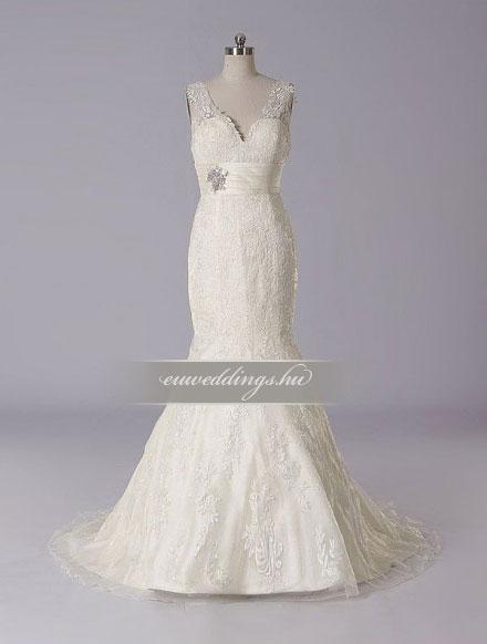 Esküvői ruha sellő fazonú pántos-SFP-10265