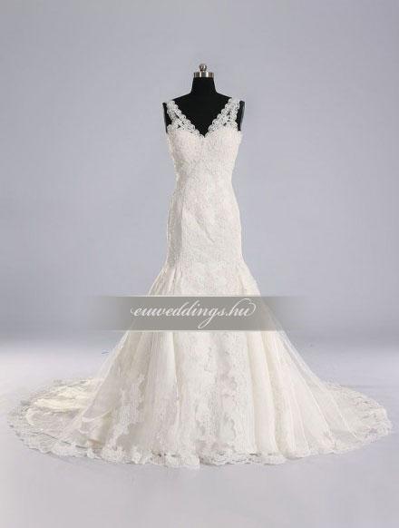 Esküvői ruha sellő fazonú pántos-SFP-10279