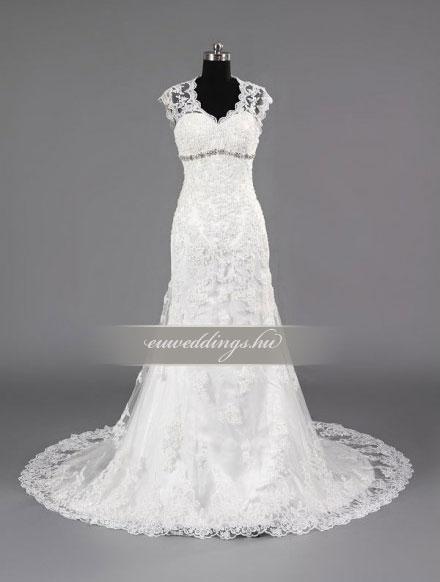 Esküvői ruha sellő fazonú pántos-SFP-10294