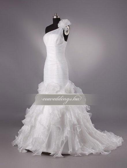 Esküvői ruha sellő fazonú pántos-SFP-10323