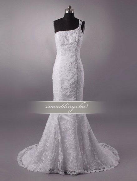 Esküvői ruha sellő fazonú pántos-SFP-10328