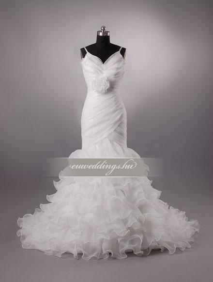 Esküvői ruha sellő fazonú pántos-SFP-10352