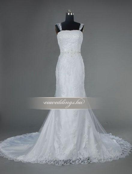 Esküvői ruha sellő fazonú pántos-SFP-10357