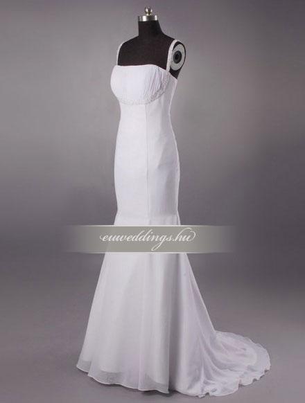 Esküvői ruha sellő fazonú pántos-SFP-10366