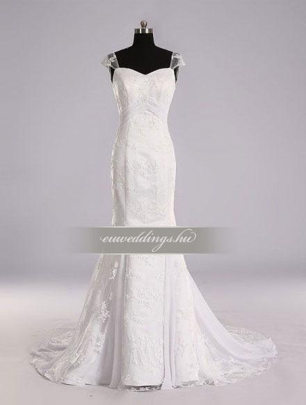 Esküvői ruha sellő fazonú pántos-SFP-10371