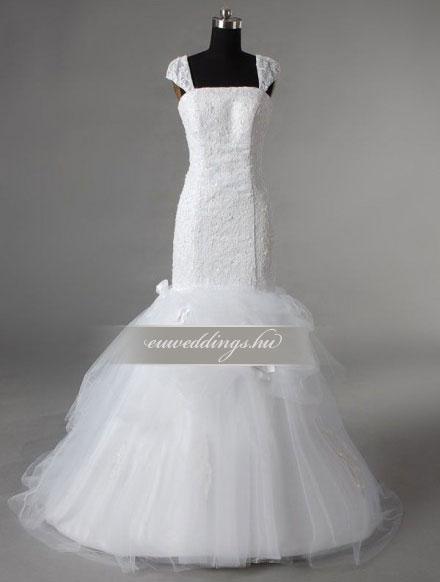 Esküvői ruha sellő fazonú pántos-SFP-10376