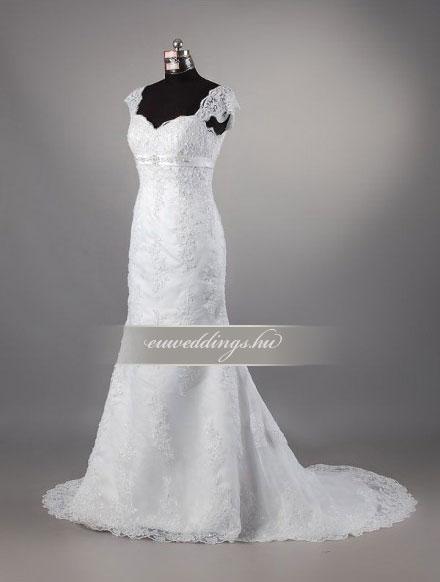 Esküvői ruha sellő fazonú pántos-SFP-10380