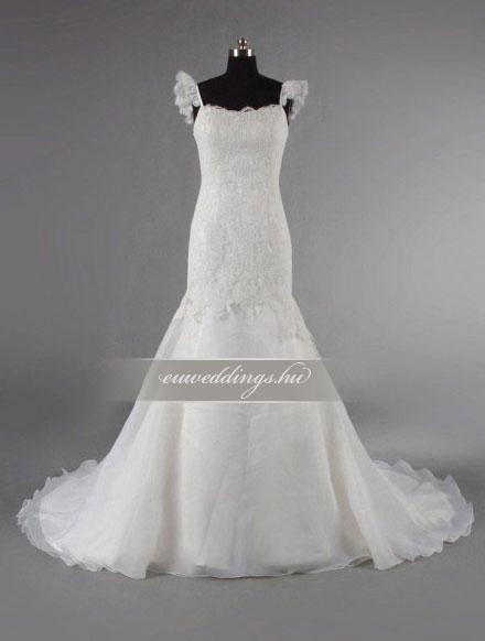 Esküvői ruha sellő fazonú pántos-SFP-10385