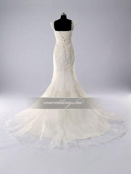 Esküvői ruha sellő fazonú pántos-SFP-10389