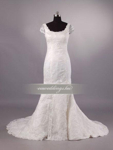 Esküvői ruha sellő fazonú pántos-SFP-10393