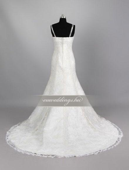 Esküvői ruha sellő fazonú pántos-SFP-10402