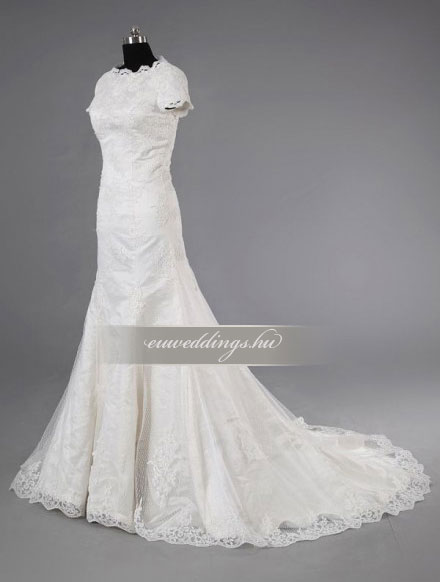 Esküvői ruha sellő fazonú pántos-SFP-10429