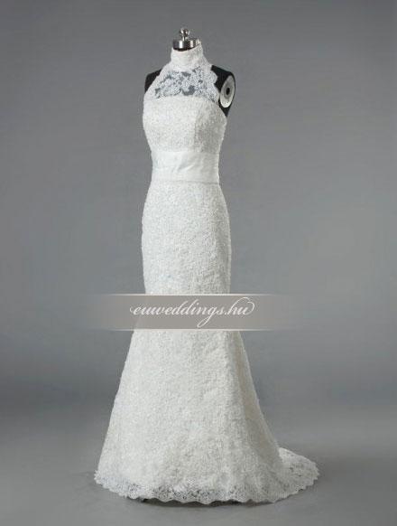 Esküvői ruha sellő fazonú pántos-SFP-10443