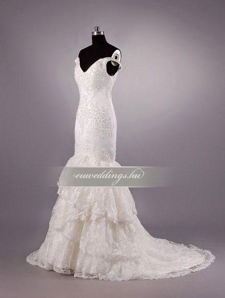 Esküvői ruha sellő fazonú pántos-SFP-10448