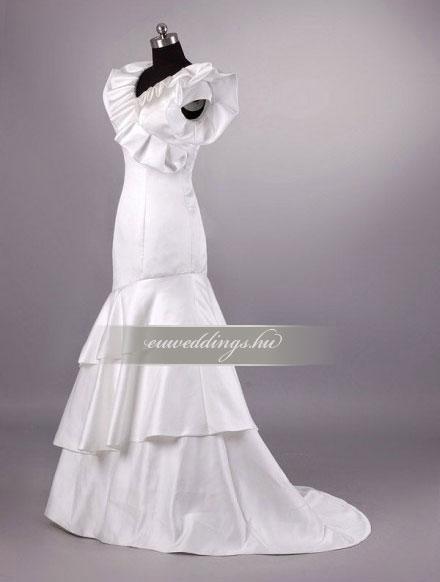 Esküvői ruha sellő fazonú pántos-SFP-10457