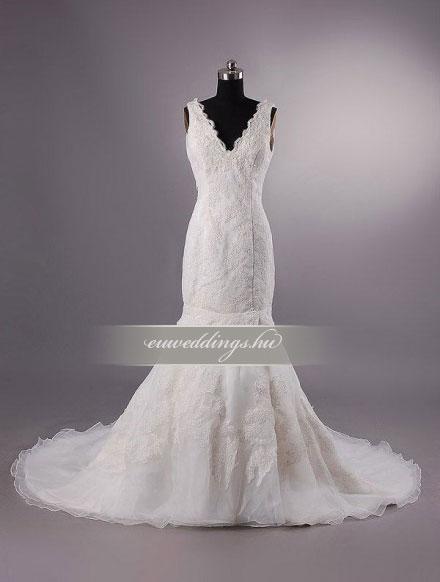 Esküvői ruha sellő fazonú pántos-SFP-10462