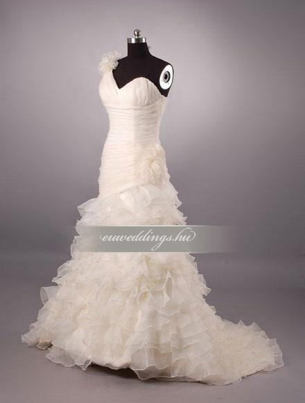 Menyasszonyi ruha sellő fazonú színes és mintás-SFS-10472