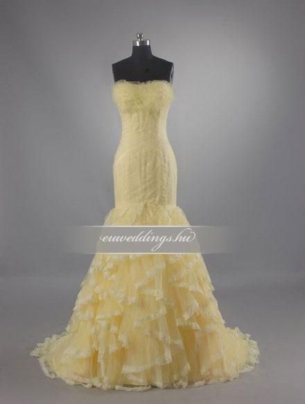 Menyasszonyi ruha sellő fazonú színes és mintás-SFS-10482