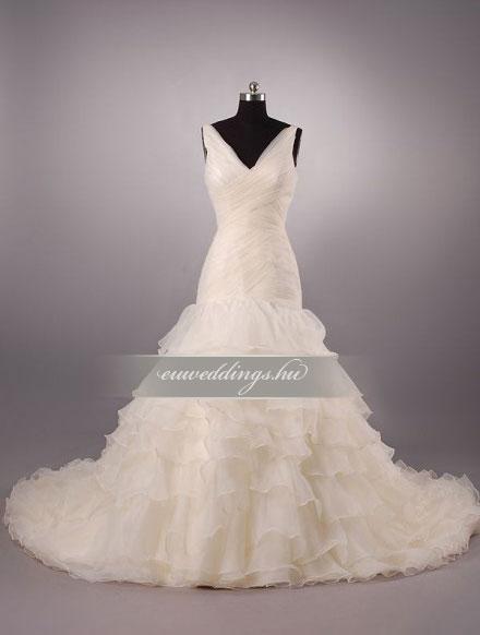Menyasszonyi ruha sellő fazonú színes és mintás-SFS-10507