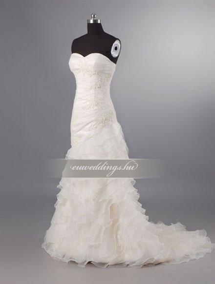 Menyasszonyi ruha sellő fazonú színes és mintás-SFS-10521