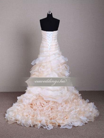 Menyasszonyi ruha sellő fazonú színes és mintás-SFS-10544
