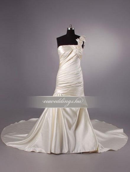Menyasszonyi ruha sellő fazonú színes és mintás-SFS-10556