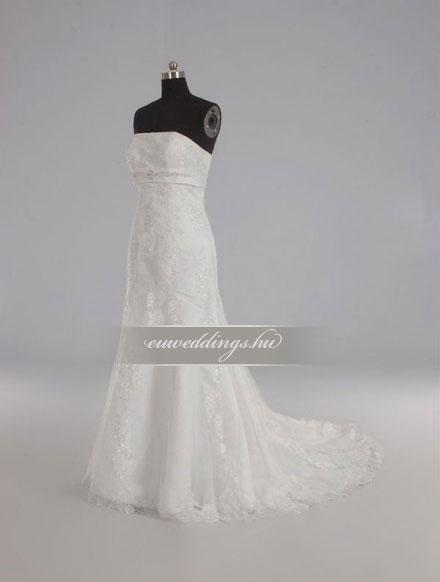 Menyasszonyi ruha sellő fazonú ujjatlan-SFU-10644