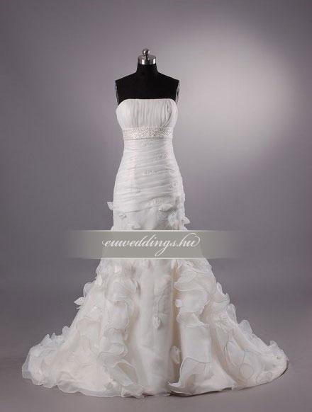 Menyasszonyi ruha sellő fazonú ujjatlan-SFU-10649