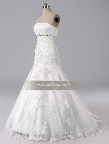 Menyasszonyi ruha sellő fazonú ujjatlan-SFU-10664