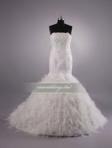 Menyasszonyi ruha sellő fazonú ujjatlan-SFU-10674