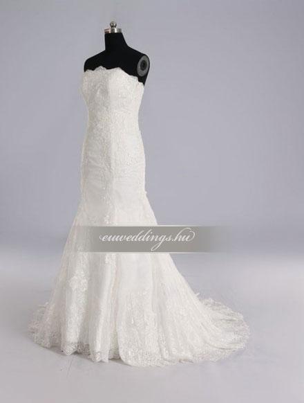 Menyasszonyi ruha sellő fazonú ujjatlan-SFU-10684