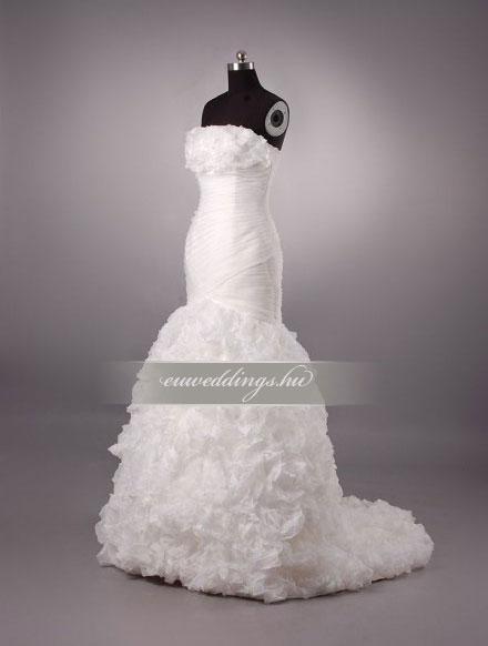 Menyasszonyi ruha sellő fazonú ujjatlan-SFU-10689