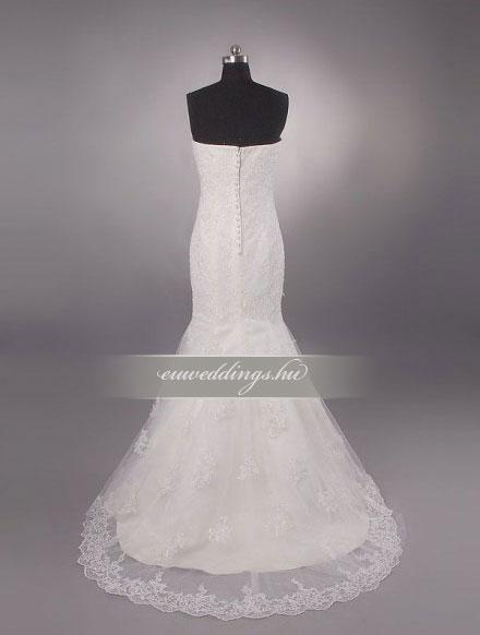 Menyasszonyi ruha sellő fazonú ujjatlan-SFU-10699