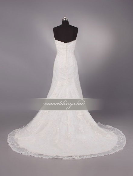 Menyasszonyi ruha sellő fazonú ujjatlan-SFU-10704