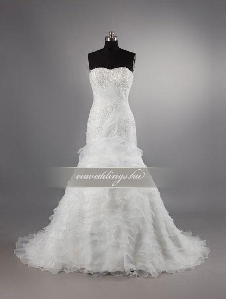 Menyasszonyi ruha sellő fazonú ujjatlan-SFU-10709