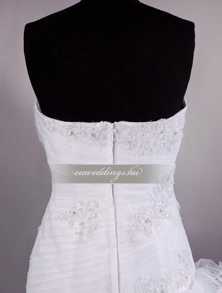 Menyasszonyi ruha sellő fazonú ujjatlan-SFU-10729