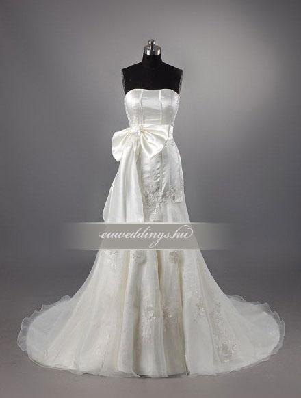 Menyasszonyi ruha sellő fazonú ujjatlan-SFU-10734