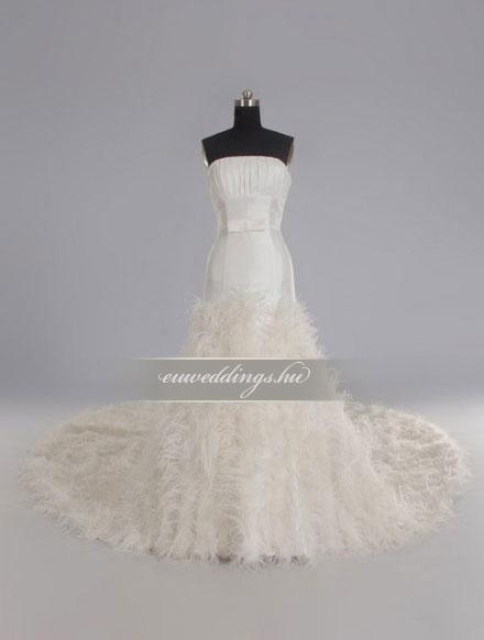 Menyasszonyi ruha sellő fazonú ujjatlan-SFU-10740