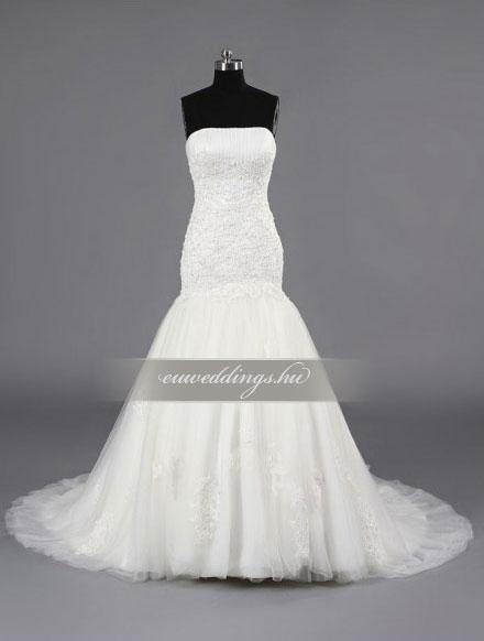 Menyasszonyi ruha sellő fazonú ujjatlan-SFU-10754