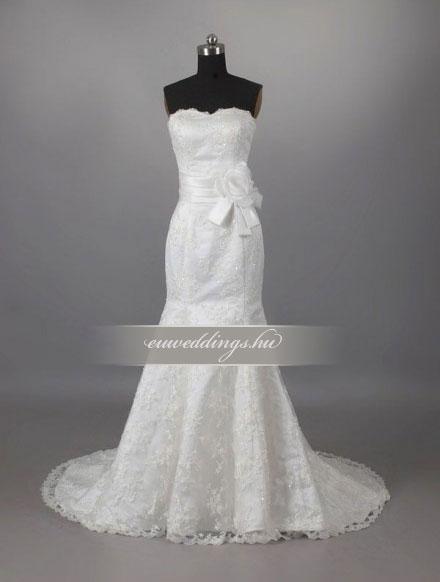 Menyasszonyi ruha sellő fazonú ujjatlan-SFU-10811