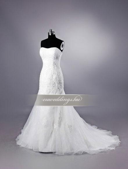 Menyasszonyi ruha sellő fazonú ujjatlan-SFU-10816