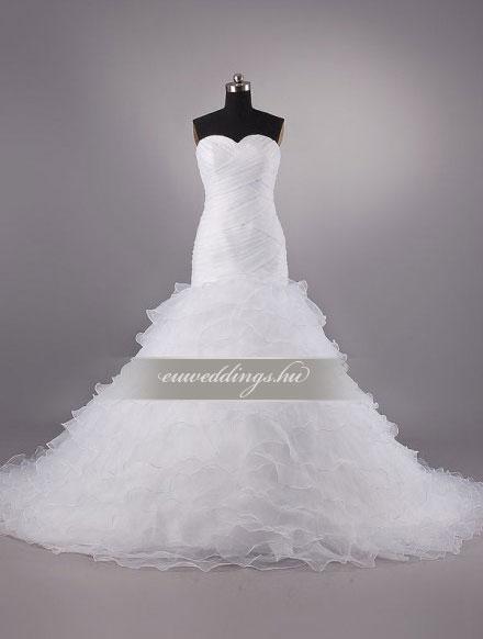 Menyasszonyi ruha sellő fazonú ujjatlan-SFU-10841